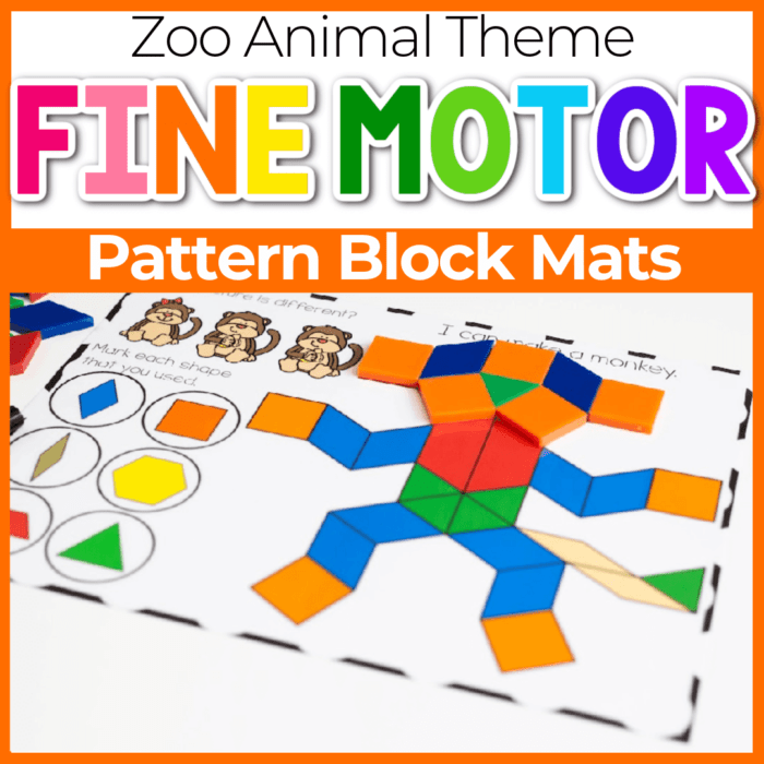 zoo animal pattern block template free printable Featured Image