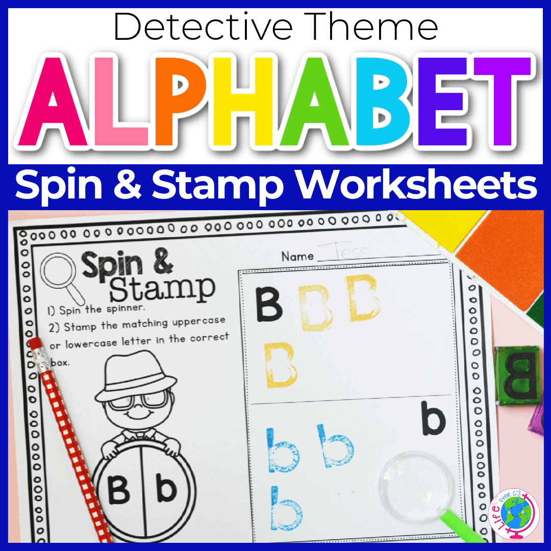 Detective Theme Free Alphabet Worksheets Uppercase/Lowercase