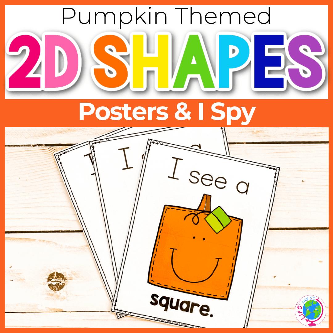 Free Pumpkin Theme 2D Shapes Poster Printable